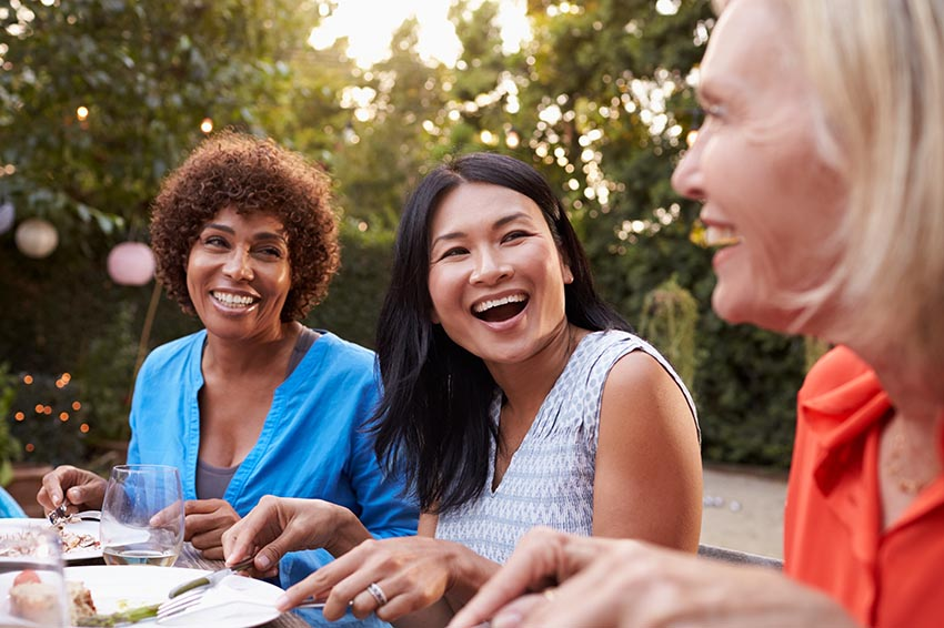 Women over 40 Enjoy Lunch